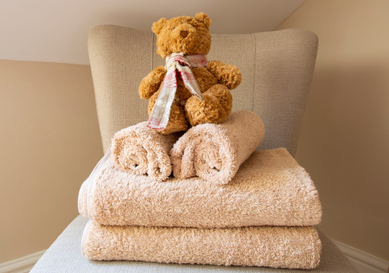 Luxury towels and beautiful accessories