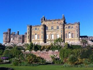 View of Culzean Castle in the sunshine