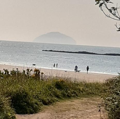 View of Maidens Beach at Culzean