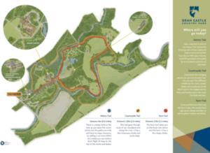 Map of Dean Castle Country Park