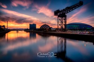 Visit Glasgow and watch the sun setting